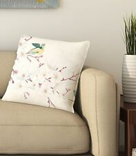 "Home Decor Bird Cotton Cushion Cover Pillow Throw Case Sofa 16""X16"" Inch"