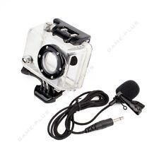 Side Open Skeleton Housing Case + 3.5mm External Microphone Mic For GoPro Hero 2
