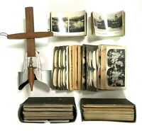 Vintage Underwood Stereoscope Viewer and large lot of Victorian Era Cards LOT