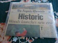 TIGER WOODS 1997 Historic Newspaper Golf Georga The Augusta Chronicle