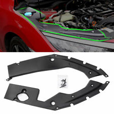 FOR 2016-18 10TH GEN HONDA CIVIC ENGINE BAY SIDE PANEL COVERS PAIR- LONG VERSION