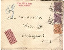 Germany Munchen 09.12.1922 nice Express Eilboten Bote Train Cover to Wien