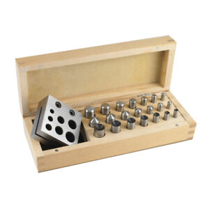 Disc Cutter - Doming Set - 21 Punches - for Jewelry Making - SFC Tools - 25-588