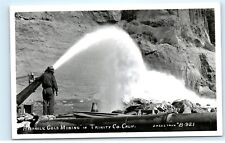 *Hydraulic Gold Mining Trinity County California Vintage Real Photo Postcard C77