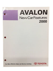 Toyota New Training Manual Car Features 2000 Book Avalon Models