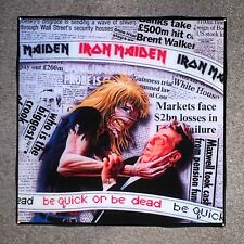IRON MAIDEN Be Quick Or Be Dead Coaster Record Cover Ceramic Tile
