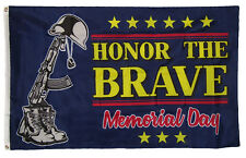 3x5 Honor The Brave Support Troops Memorial Day Holiday Flag 3'x5' Grommets
