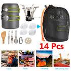 Portable Gas Camping Stove Butane Propane Burner Outdoor Hiking Picnic+Cookware photo