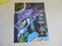 OFF THE WALL FOLDED   ATARI     ARCADE GAME  FLYER    CFC