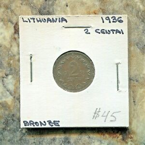 LITHUANIA - BEAUTIFUL HISTORICAL BRONZE 2 CENTAI, 1936, KM # 80