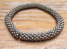 Stylish Metal Bobble Bead Bracelet/Silver Tone/Modern/Stretchy/Dressy/Occasion