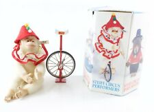 """Golden Age Of The Circus Chimp Unicycle 0143,19 Vintage Steiff 9"""" w/ Tag & Box"""