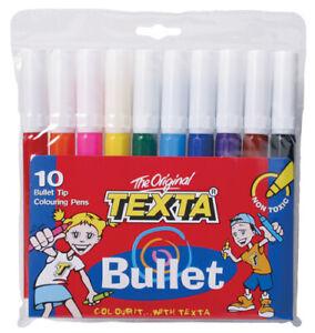 Texta Bullet Tip Assorted Markers