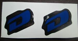 "Set of GT DYNO ""D"" Stickers frame/fork/DARK BLUE/BLACK/CHROME (FREE SHIPPING)"