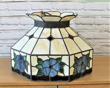 Large Octagonal Tiffany Style Glass Lightshade - Thames Hospice