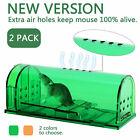 2PCS Mouse Trap Humane Live Catcher Rat Vermin Rodent Cage Pest No Kill Reusable