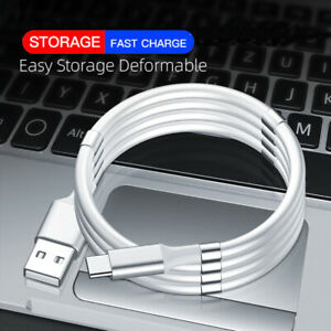 Magic Rope Magnetic USB-C Data Cable Type C Fast Charging Self Winding USB Lead