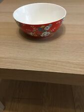 Cath Kidston Clifton Rose Red Bowl/ Dish Brand New