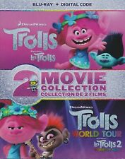 TROLLS 2 MOVIE COLLECTION BLU-RAY + DIGITAL +SLIPCOVER - Brand New & Sealed!