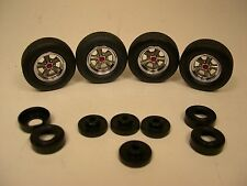 LANE AUTOMOTIVE 1:18 SCALE PLASTIC AND RUBBER TORQUE THRUST WHEEL & TIRE SET #2