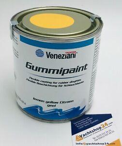 (51,80€/L) Veneziani Gummipaint Schlauchbootfarbe Gummifarbe, Rubberpaint: gelb