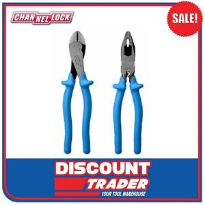 """Channellock 1000V 8.5"""" Electrician's Pliers & 8"""" Side Cutters - 3248 3238 - PG-2"""
