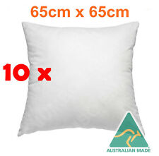 10 x AUSTRALIA MADE EUROPEAN PILLOW CUSHION INSERT POLYESTER 65x65cm