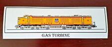 Union Pacific Railroad X-18 Gas Turbine Locomotive Bumper Sticker - Decal