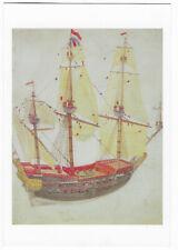 Dutch East Indiaman Norman Lindsay sailing ship postcard art painting