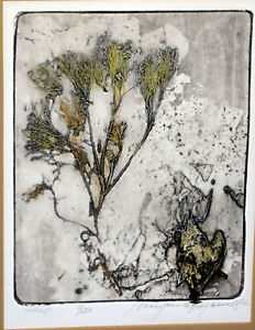 "US Boston Collagraph Print 3/20 ""Wisp"" by Mary Ann De Buy Wenniger (Tam)"