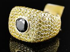 New Mens Yellow And Black Diamond Ring Solitaire Band Pinky Ring 6.60 Ct