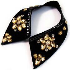 COLLAR NECKLACE handmade WOMEN Brown Rhinestone Crystal BLACK fashion choker