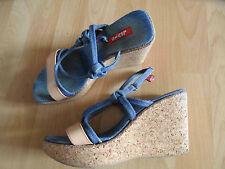 Levis lovely Wedge Heel Sandals Cork Heel Size 37 Top dd1