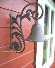Stammtisch Glocke  Türglocke rustikal  Door Bell  Gusseisen 40 cm x 22 cm 2,5Kg