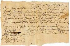 Stephen Mix Mitchell, US Senator of Conn written and signed document dated 1792