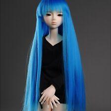 "Dollmore 1/4 BJD OOAK Supplier MSD Wig (7-8)""   VL Bangs Straight (Blue)"