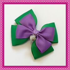 Handmade Large Ariel Little Mermaid Inspired Hair Bow Clip Cosplay Princess