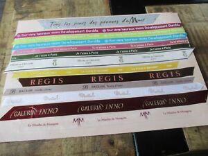Tissus collector,Luxe&marque-Lot,Moulin de Mougins,La tour d argent,Baillon...