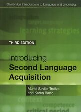 Introducing Second Language Acquisition by Muriel Saville-Troike,9781316603925