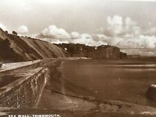 Vintage Postcard - Devon #A80 - RP Sea Wall, Teignmouth - Excel Series
