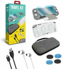 Case, Screen Protector, Earbuds, C-Cable, Thumb Grips for Nintendo Switch Lite