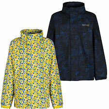 Regatta Printed Overchill Kids Jacket Girls Boys Waterproof Coat