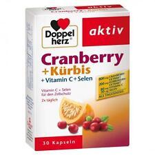DOPPELHERZ Cranberry+Kürbis Kapseln 30 St