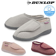 Dunlop Ladies Womens Slippers Memory Foam Diabetic Comfy Cozy Rip Tape Size 3-8