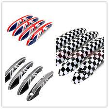 4pcs Union Jack Check Door Handle Cover Caps For Bmw Mini Cooper Countryman R60