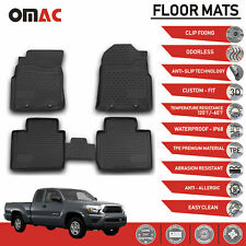 Floor Mats Liner 3D Molded Black Fits for Toyota Tacoma Double Cab 2005-2015