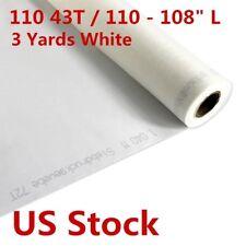 US Stock 3 Yards White Silk Screen Printing Mesh Fabric 110 43T / 110 - 108