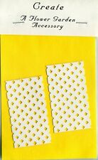 "Die Cut White 3""x1 1/8"" LATTICE PANELS x2 Scrapbook-Quilling Page Embellishment"