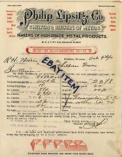 1911 LETTERHEAD Dallas Texas PHILIP LIPSHITZ Co Smelter & Refiner of Metal IRON
