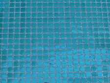 CLEARANCE SALE SQUARE TURQUOISE CONFETTI DOT SEQUIN FABRIC $4.50/YARD